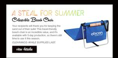 Collapsible Beach Chair - CLEARANCE WHILE SUPPLIES LAST