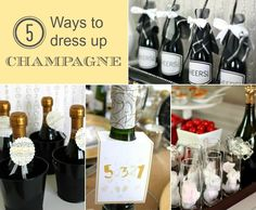 How To Dress Up Champagne Bottles — Celebrations at Home