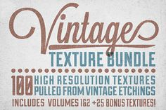 Just a heads up that I just released the Vintage Texture Bundle.  100 textures from vintage etchings for just $10 - pretty rad deal if you ask me! Take a look =)  Snag it here: http://crtv.mk/cMI5