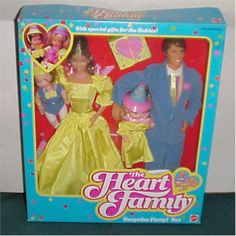 The Heart Family! I can remember the feel of that stiff yellow fabric and the velvety jacket on him. I think my Mom thought these dolls were more wholesome than regular Barbie.