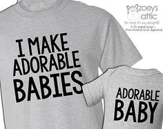 I make adorable babies shirts dad and baby matching t-shirt and bodysuit gift set ORIGINAL- great gift for Father's Day