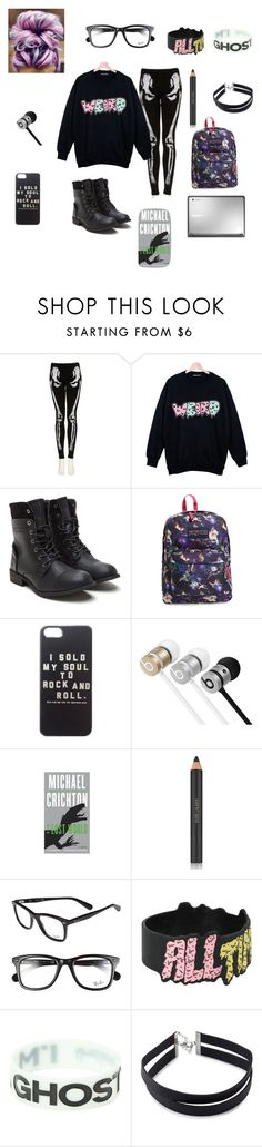 """""""#105"""" by outfits-for-the-fandoms ❤ liked on Polyvore featuring Retrò, JanSport, Samsung, Beats by Dr. Dre, Estée Lauder, Ray-Ban, Forever 21, outfit, weird and stayweird"""