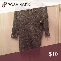 Absolutely sheer glitter top size small Gently worn sheer sequins shirt from absolutely. Size S Tops