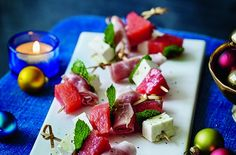 50 quick and easy canapes - Watermelon, cured ham and feta - goodtoknow Easy Canapes, Canapes Recipes, Snack Recipes, Appetizers, Canapes Ideas, Uk Recipes, Party Recipes, Appetizer Recipes, Yummy Recipes