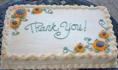 Traylor Made Treats: Thank you sheet cake
