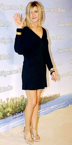 Jennifer Aniston  Like the black dress. My favorite color. Black. for every occasion.