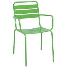 Calypso es el sonido del Caribe, y con la silla apilable Calypso resistente a la intemperie se vive tan alegre como en Trinidad y Tobago. Está disponible en cuatro colores, a elegir con o sin reposabrazos, pero siempre con recubrimiento pulvimetalúrgico. Para usted y sus amigos, para grandes familias y muchos invitados en el balcón y la terraza o en el jardín. Disponible mesa plegable a juego.