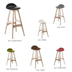 Description Specifications Downloads ERIK BUCH Model 61 iconic stool designs are a perfect addition to any international interior. Solid wood construction and t