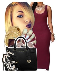 """Slayed to the goddess."" by newtrillvibes ❤ liked on Polyvore featuring Michael Kors, River Island, Sunday Somewhere, MICHAEL Michael Kors, Giuseppe Zanotti, women's clothing, women's fashion, women, female and woman"