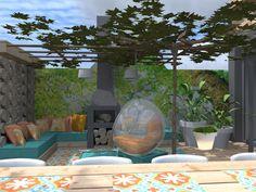 Mooie idee voor een zithoek in de tuin