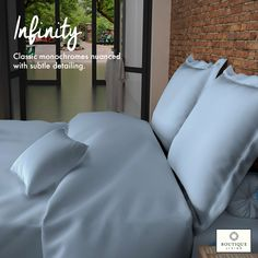 Made from 100% mercerised cotton, #Infinity with its 1000 Thread Count weaves a cocoon of comfort around you! #HomeDecor #Decor #Luxury #Bedding #Comfort #HappyPlace #Bedroom #BedroomDecor