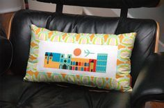 retro city pillow