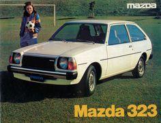 Mazda Cars, Hyundai Cars, Classic Japanese Cars, Classic Cars, Mazda Familia, Ad Car, Japan Cars, Car Advertising, Vw Bus