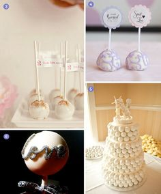 Desserts: Wedding Cake Pops!