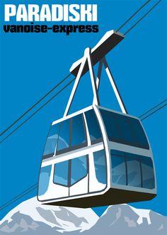 Vanoise Express, the double deck cable car linking the Paradiski ski area.