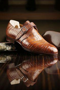 Luxury mens alligator shoes, best shoes for men