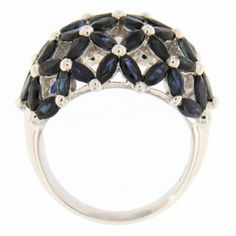 Jona Blue Sapphire Dome Gold Ring