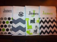 embroidered burp cloths - Google Search