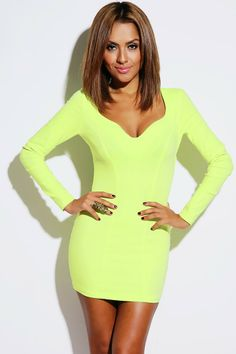 #1015store.com #fashion #style lime green sweetheart backless fitted clubbing party mini dress-$30.00