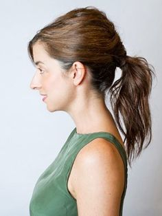 Sculpted low #ponytail. #hairstyle