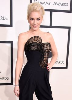 Gwen Stefani in a couture Atelier Versace jumpsuit at the 2015 Grammys
