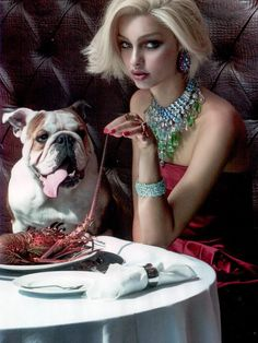 Sergio was fond of Lobster.Vogue Brazil November 2013
