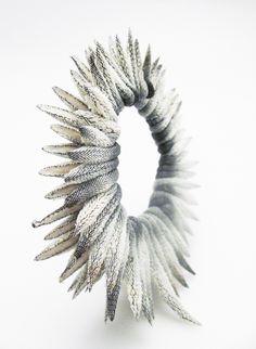 "Bracelet | Tzuri Gueta.  ""Thistle"".  Made from Tzuri Gueta's developed patent 'lace silicone'"