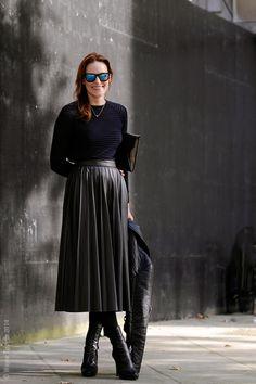 Leather pleats. London – Hallie Chrisman. Photo © Wayne Tippetts
