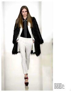 Petra coat, Riley coat, Lara shirt, Ian pant & Dallas pump