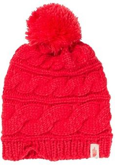 b08079e0 ShopStyle Collective North Face Women, The North Face, Cable Knit Hat, Red  Hats