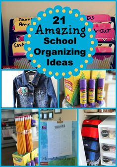 21 Amazing School Organizing Ideas that really work from MomAdvice.com.