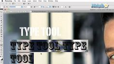 How to use Horizontal Type Tool (how to type on Photoshop)