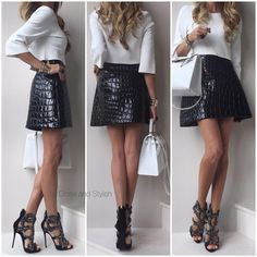 Last night - #StellaMcCartney top, #MiuMiu skirt, #GiuseppeZanotti heels and #Hermès #KellySellier32.