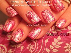 pink and white filigree nail art nails !  http://www.youtube.com/watch?v=uxcxF2jo7Xc