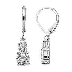 Sterling Silver Cubic Zirconia Drop Earrings Kohl's