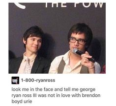 George Ryan Ross III was not in love with Brendon Boyd Urie