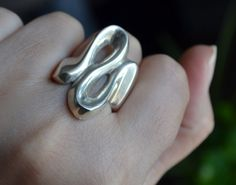 Sterling Silver Ring Solid Silver Ring Size 10 size by LKArtChic