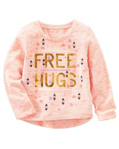 Toddler Girl Neon Free Hugs Tee from OshKosh B'gosh. Shop clothing & accessories from a trusted name in kids, toddlers, and baby clothes.