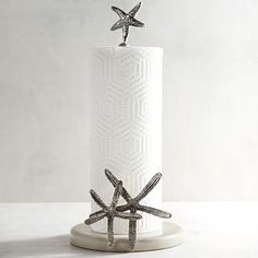 Coastal Paper Towel Holder Beauteous Coral & Starfish Paper Towel Holder  Coastal Decorating  Pinterest Inspiration