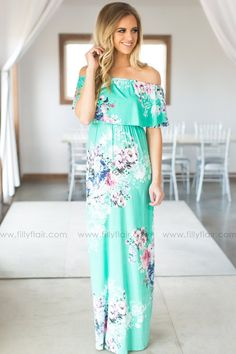 Summer of Love Off the Shoulder Maxi Dress | Filly Flair