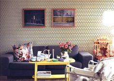+deco: David Hicks's Hexagon Wallpaper