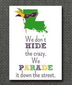 5x7 Mardi Gras Print - King Cake, Parade, New Orleans, NOLA, Mardi Gras on Etsy, $10.00