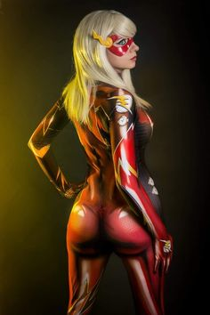 The Flash by Andy Rae - More at https://pinterest.com/supergirlsart #dccomics #cosplay #girl #bodysuit
