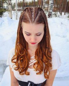 Box-Braided Bun - Braids with Beads: Hairstyles for a Beautiful and Authentic Look - The Trending Hairstyle Cool Braid Hairstyles, Baddie Hairstyles, Pretty Hairstyles, Curly Hair Updo, Wavy Hair, Curly Hair Styles, Braids With Curls, Cool Braids, Hair Designs