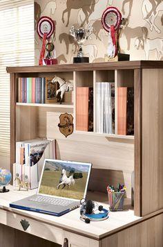 Cilek Royal Schreibtischaufsatz  Um Pferdebücher und Zeitschriften immer griffbereit und standesgemäß unterzubringen, bietet der Cilek Royal Schreibtischaufsatz gleich drei Fächer und einen Regalboden. Mit diesem... #schreibtischaufsatz #kinder #cilek
