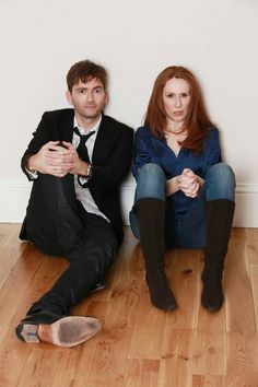 The Doctor (David Tennant) and Donna (Catherine Tate). What fabulous picture ♥♥ I Am The Doctor, Doctor Who 10, 10th Doctor, Geronimo, Catherine Tate, Christopher Eccleston, Donna Noble, Torchwood, Time Lords