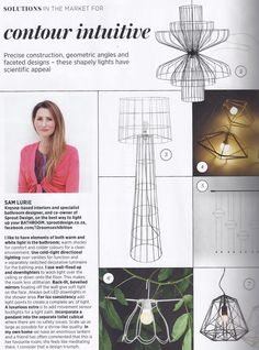LIghting, from House and Leisure, August 2014