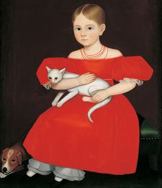Girl in Red Dress with Cat and Dog, Ammi Phillips (1788–1865) - Ammi Phillips - Wikipedia, the free encyclopedia