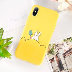 Cute Cat Yellow Duck Phone Case for iphone 6 7 8 plus X XR XS MAX phone Cases Soft Backe Cover Fundas capa Outfit Accessories From Touchy Style.