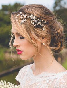 Tulle - Acessórios para noivas e festa. Arranjos, Casquetes, Tiara para noivas, voilettes e mais.